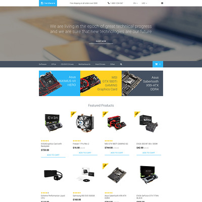 Hardware OpenCart Template (OpenCart theme for electronics) Item Picture