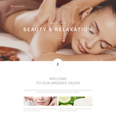 Harmony Joomla Template (Joomla template for spas and beauty salons) Item Picture