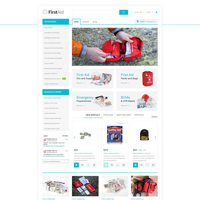 Healthcare Essentials Store PrestaShop Theme (PrestaShop theme for health and medical stores) Item Picture