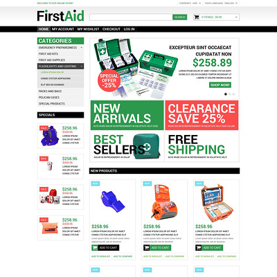 Healthcare Supplies Magento Theme (Magento theme for medical and health stores) Item Picture