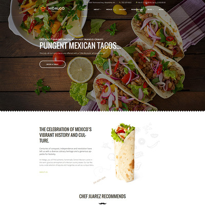 Hidalgo (WordPress theme for restaurants) Item Picture