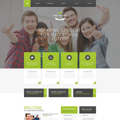 High School Promotion WordPress Theme (education WordPress theme) Item Picture