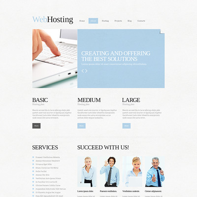 Hosting Responsive Joomla Template (Joomla template for web hosting companies) Item Picture