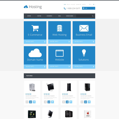Hosting Responsive OpenCart Template (OpenCart theme for web hosting providers) Item Picture