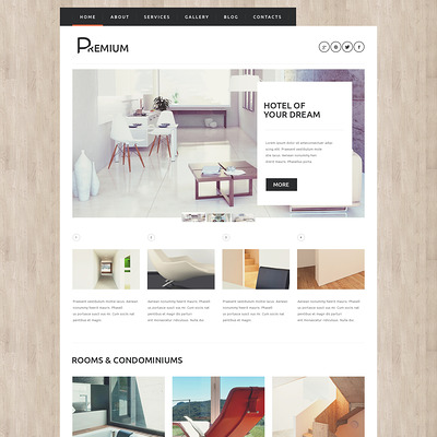 Hotels Booking Agency WordPress Theme (WordPress theme for hotels) Item Picture
