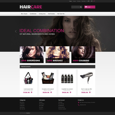 Ideal Hair PrestaShop Theme (PrestaShop theme for hair extensions and hair products) Item Picture