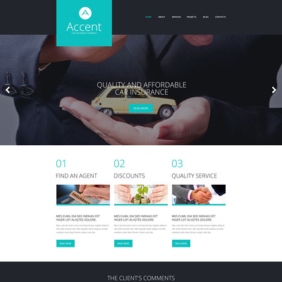Insurance Responsive WordPress Theme (WordPress theme for insurance companies) Item Picture