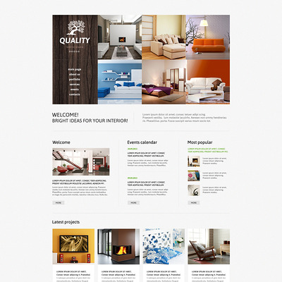 Interior Studio Joomla Template (Joomla template for interior design websites) Item Picture