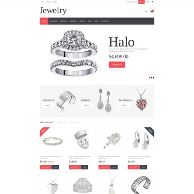 Jewelry PrestaShop Theme (PrestaShop theme for jewelry stores) Item Picture