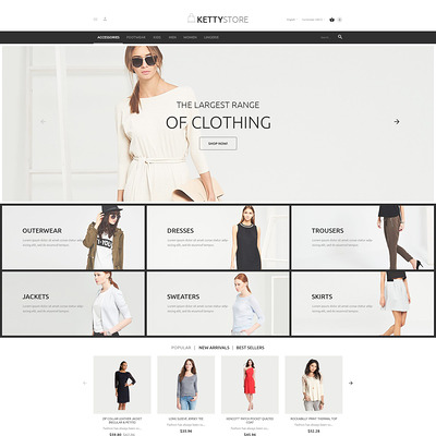 KettyStore PrestaShop Theme (PrestaShop theme for womens clothing) Item Picture