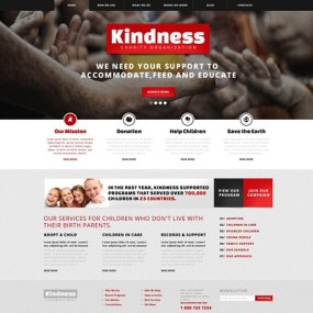 Kind Children Charity WordPress Theme (charity WordPress theme) Item Picture