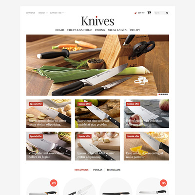 Knives Store PrestaShop Theme (PrestaShop theme for housewares and kitchen supplies) Item Picture