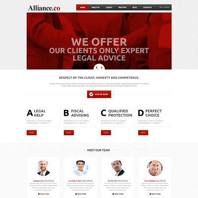 Law Firm Responsive Joomla Template (Joomla template for lawyers and law firms) Item Picture