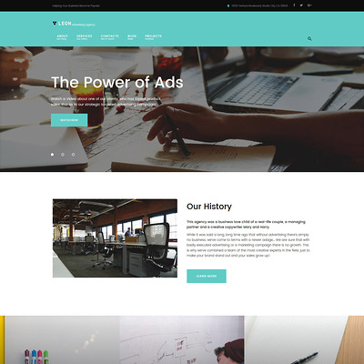 Leon (WordPress theme for advertising agencies) Item Picture