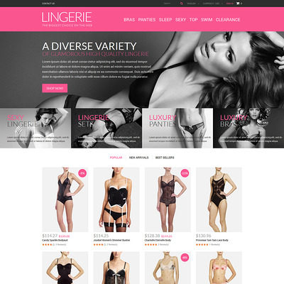Lingerie Shop PrestaShop Theme (PrestaShop theme for lingerie and swimwear) Item Picture