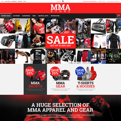 MMA Clothes and Gear Magento Theme (Magento theme for sports stores) Item Picture