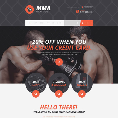 MMA Shopify Theme (Shopify theme for sports stores) Item Picture