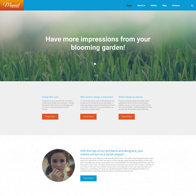 Manuel WordPress Theme (WordPress theme for landscapers and gardeners) Item Picture