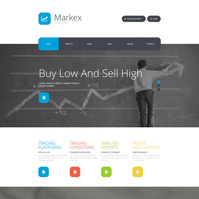 Markex Joomla Template (Joomla template for financial websites) Item Picture
