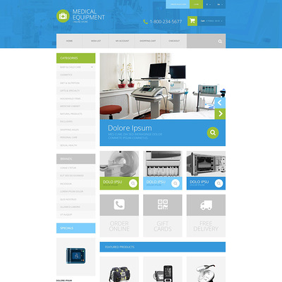 Medical Equipment OpenCart Template (OpenCart theme for health and medical stores) Item Picture