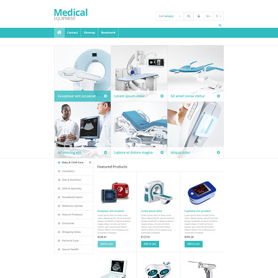 Medical Equipment Store PrestaShop Theme (PrestaShop theme for health and medical stores) Item Picture