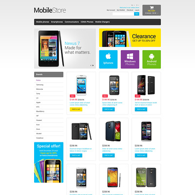 Mobile Store Responsive Magento Theme (Magento theme for electronics stores) Item Picture