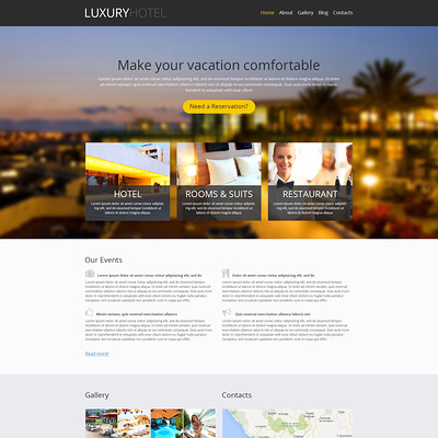 Modern Hotel Business WordPress Theme (WordPress theme for hotels) Item Picture