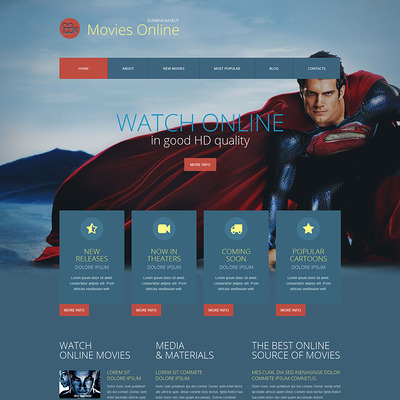 Movie Responsive WordPress Theme (WordPress theme for movie websites) Item Picture