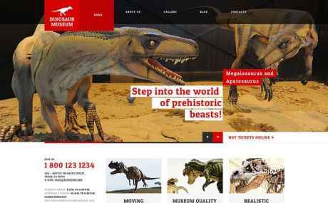 Museum Responsive WordPress Theme (museum WordPress theme) Screenshot