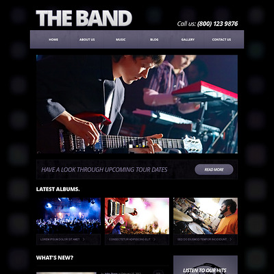 Music Band Responsive Joomla Template (Joomla template for music websites) Item Picture
