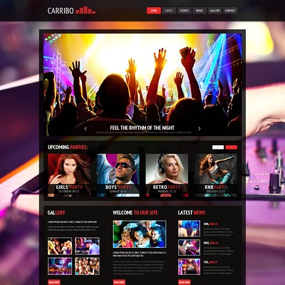 Night Club Joomla Template (Joomla template for night clubs) Item Picture