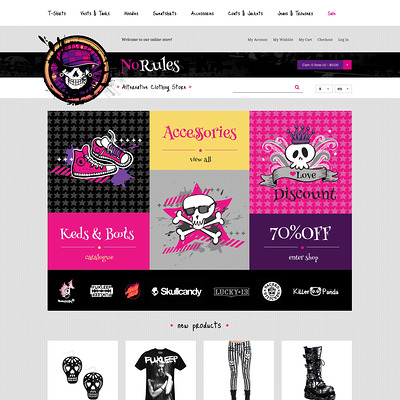 No Rules Magento Theme (Magento theme for mens and womens clothing) Item Picture