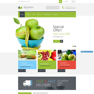 NutritionSupplements Shopify Theme (Shopify theme for medical and health stores) Item Picture