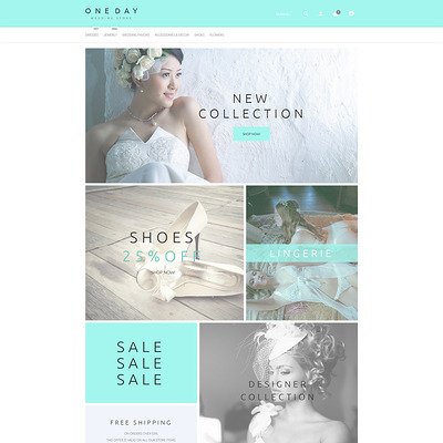 One Day PrestaShop Theme (PrestaShop theme for wedding stores) Item Picture