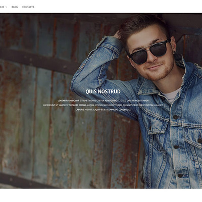 Online Portfolio WordPress Theme (WordPress theme for photogaphers) Item Picture