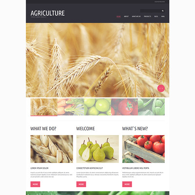 Organic Eating Joomla Template (Joomla theme for agriculture and farms) Item Picture