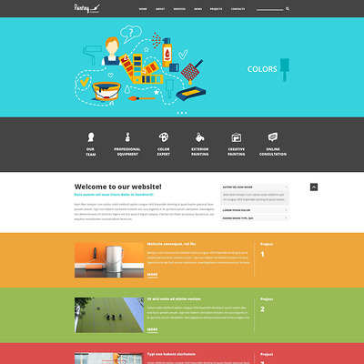 Painting Company Joomla Template (Joomla template for construction companies) Item Picture