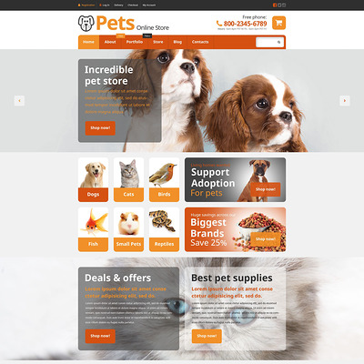 Pets Online Store WooCommerce Theme (WooCommerce theme for animals and pets) Item Picture