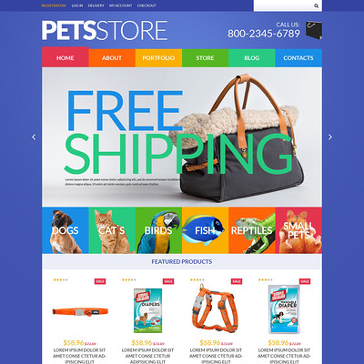 Pets Store WooCommerce Theme (WooCommerce theme for animals and pets) Item Picture