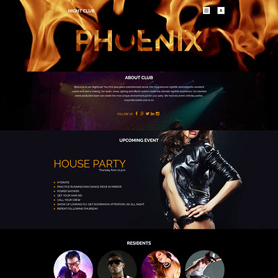 Phoenix Joomla Template (Joomla template for night clubs) Item Picture
