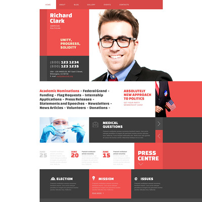 Politics WordPress Theme (WordPress theme for politics) Item Picture