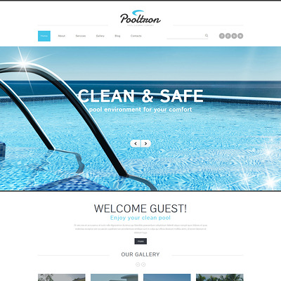 Pool Cleaning Services Joomla Template (Joomla template for cleaning companies and maid services) Item Picture
