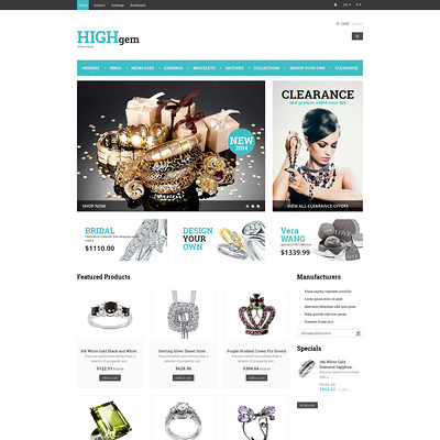 Premium Quality Jewelry PrestaShop Theme (PrestaShop theme for jewelry stores) Item Picture