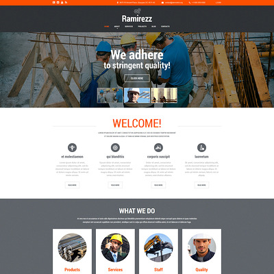Ramirezz Joomla Template (Joomla template for construction companies) Item Picture