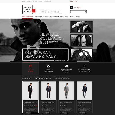 Relaxed Dress Code PrestaShop Theme (PrestaShop theme for mens clothing) Item Picture