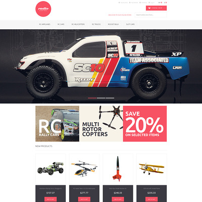 RemoteControlled Toys Magento Theme (Magento theme for kids, babies, and children) Item Picture