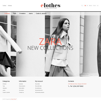 Responsive Clothes Store PrestaShop Theme (PrestaShop theme for womens clothing) Item Picture