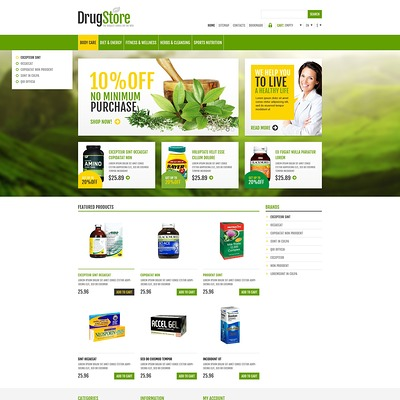 Responsive Drug Store PrestaShop Theme (PrestaShop theme for health and medical stores) Item Picture