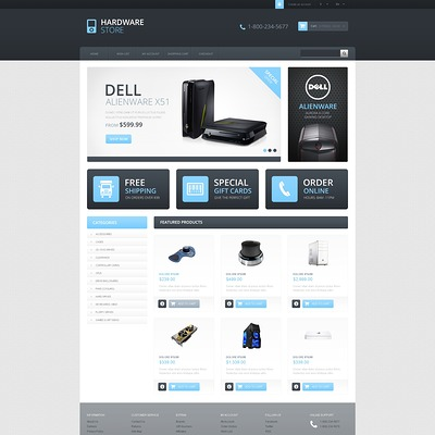 Responsive Hardware Store OpenCart Template (OpenCart theme for electronics) Item Picture