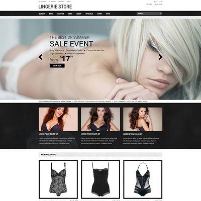 Romantic Lingerie Magento Theme (Magento theme for selling lingerie and underwear) Item Picture